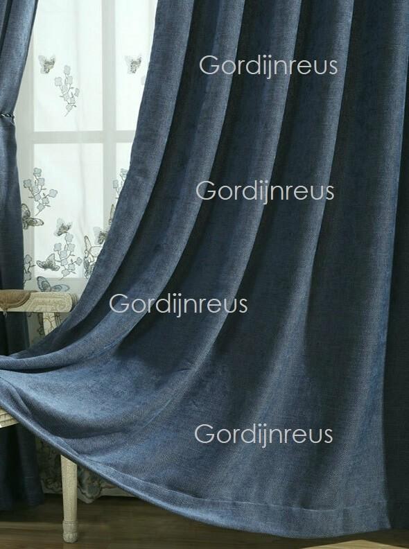 100% blickdichte verdunkelungsvorhänge 2 gardinen marineblau 280 CM B X 250 CM H
