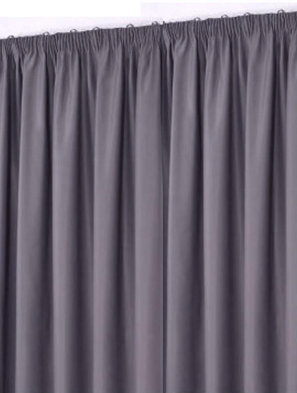 Gardine mit Kräuselband Dunkel grau